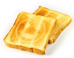 A Happy Face on a Toast