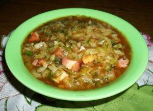 Dukan Diet Recipe Cabbage with Chicken Sausages: Ready